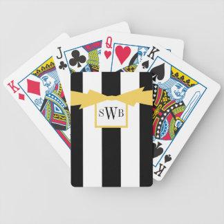 MODA QUE JUEGA EL ARCO DE CARDS_BLACK/WHITE BARAJA DE CARTAS BICYCLE