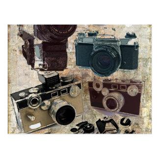 Moda retra de las cámaras del Grunge del vintage Postal