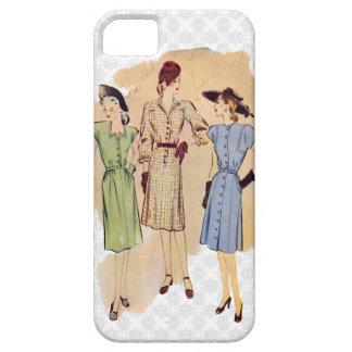 Moda retra de los años 40 iPhone 5 Case-Mate cobertura