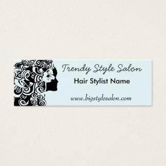 Moda rizada larga bonita de la mujer del pelo de tarjeta de visita mini