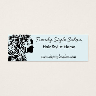 Moda rizada larga bonita de la mujer del pelo de tarjeta de visita pequeña