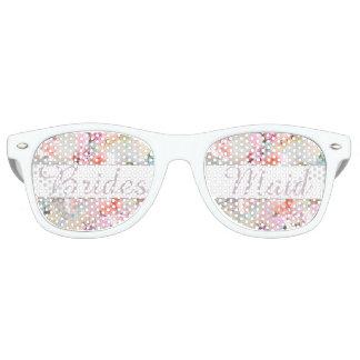 Moda rosada romántica de la acuarela de la dama de gafas de fiesta retro