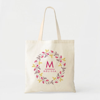 Moda rústica elegante de la acuarela floral del bolso de tela