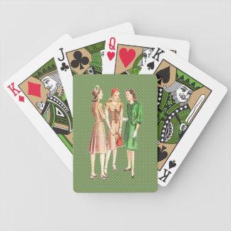 Moda V2 de los años 40 del vintage Baraja Cartas De Poker