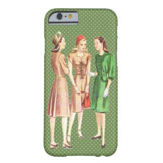 Moda V3 de los años 40 del vintage Funda De iPhone 6 Barely There