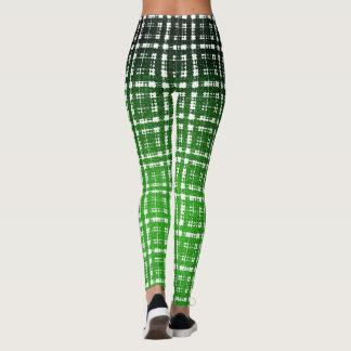 Moda verde del Scifi de la tela escocesa del Leggings