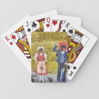 Modelado de los trajes tradicionales suizos baraja de cartas