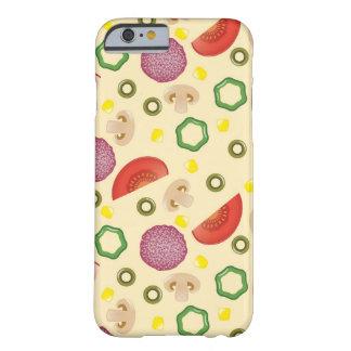 Modelo 2 de la pizza funda para iPhone 6 barely there