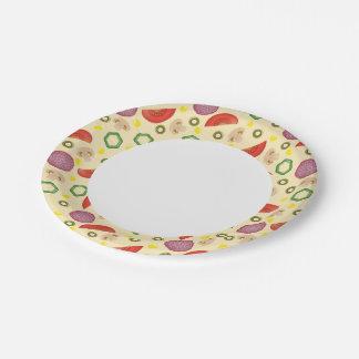 Modelo 2 de la pizza platos de papel