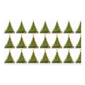Modelo 2 del árbol de navidad plantilla de tarjeta personal