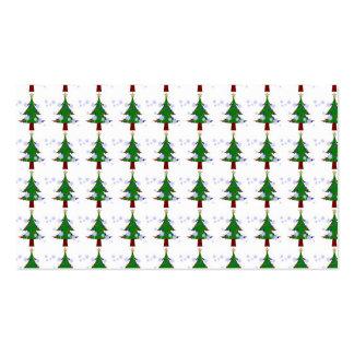 Modelo 3 del árbol de navidad tarjetas de visita