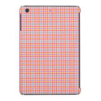 Modelo a cuadros anaranjado elegante funda para iPad mini