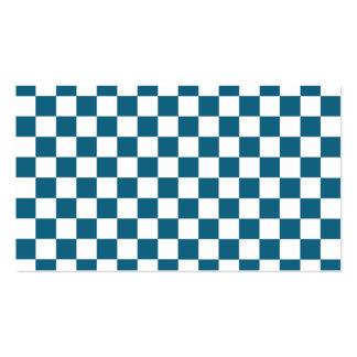 Modelo a cuadros azul tarjetas de visita