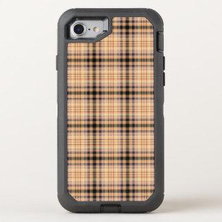 Modelo a cuadros marrón elegante funda OtterBox defender para iPhone 8/7