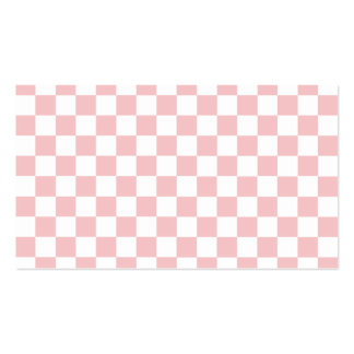 Modelo a cuadros rosado tarjetas de visita