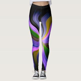 Modelo abstracto #4 del fractal leggings