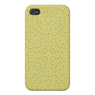 Modelo abstracto amarillo iPhone 4 fundas