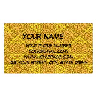 Modelo abstracto amarillo tarjetas de visita