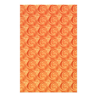 Modelo abstracto anaranjado de los círculos flyer personalizado