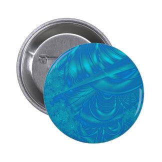 Modelo abstracto azul elegante. Fractal Art. Pins