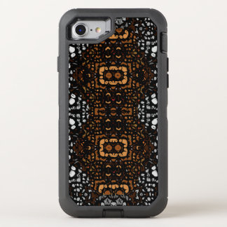 Modelo abstracto blanco hermoso de Brown Funda OtterBox Defender Para iPhone 8/7