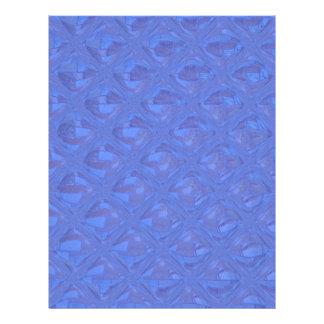 Modelo abstracto bonito en azul folleto 21,6 x 28 cm
