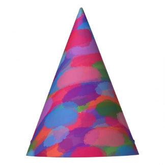 Modelo abstracto colorido de las gotitas del arco gorro de fiesta