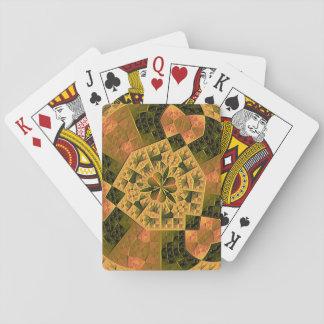 Modelo abstracto colorido fresco cartas de juego