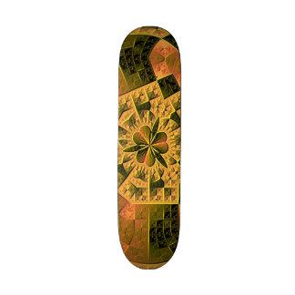 Modelo abstracto colorido fresco tablas de skate