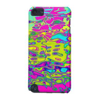 Modelo abstracto colorido loco brillantemente carcasa para iPod touch 5G