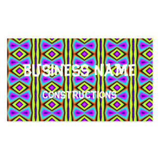 Modelo abstracto colorido tarjetas de visita