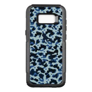 Modelo abstracto de Camo del negro azul Funda Commuter De OtterBox Para Samsung Galaxy S8+