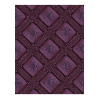 Modelo abstracto de color de malva oscuro folleto 21,6 x 28 cm