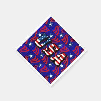 Modelo abstracto de la bandera con las servilletas servilleta desechable