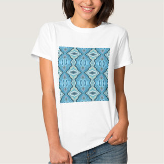 Modelo abstracto de la turquesa camiseta