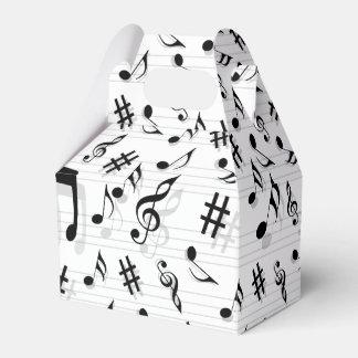 Modelo abstracto de las notas musicales del caja de regalos