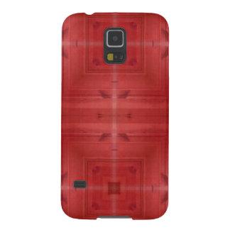 Modelo abstracto de madera rojo funda galaxy s5