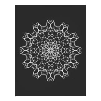 Modelo abstracto del caleidoscopio folleto 21,6 x 28 cm