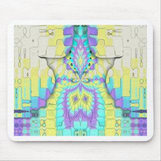 Modelo abstracto en colores pastel de neón festivo alfombrilla de ratón