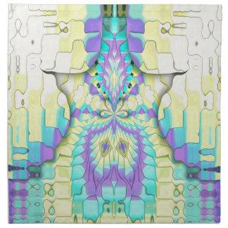 Modelo abstracto en colores pastel de neón festivo servilleta de tela