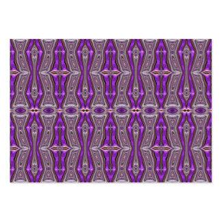 Modelo abstracto geométrico violeta tarjetas de visita