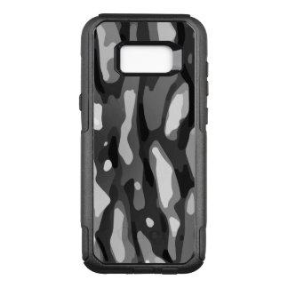 Modelo abstracto gris blanco negro de Camo Funda Otterbox Commuter Para Samsung Galaxy S8+