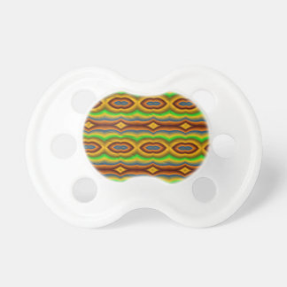 Modelo abstracto multicolor chupete de bebe