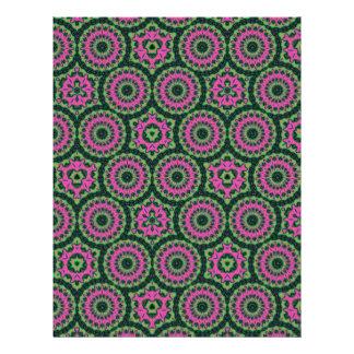 Modelo abstracto multicolor único folleto 21,6 x 28 cm