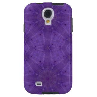 Modelo abstracto púrpura de la madera funda galaxy s4