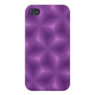 Modelo abstracto púrpura iPhone 4 cárcasa