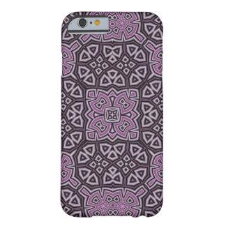 Modelo abstracto púrpura funda para iPhone 6 barely there
