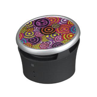 Modelo abstracto retro de Bling del arco iris Altavoz Con Bluetooth
