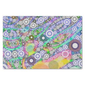 Modelo abstracto retro del círculo papel de seda