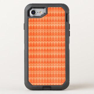 Modelo abstracto rojo de la materia textil del funda OtterBox defender para iPhone 8/7